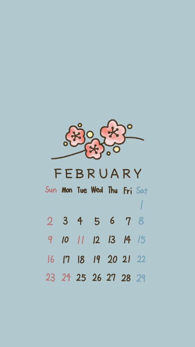 アカリ No Twitter 立春 ロック画面とホーム画面の壁紙にどうぞ 2月カレンダー カレンダー 待ち受け 壁紙 イラスト オリジナルイラスト 絵 お絵描き イラスト好きな人と繋がりたい 絵描きさんと繋がりたい
