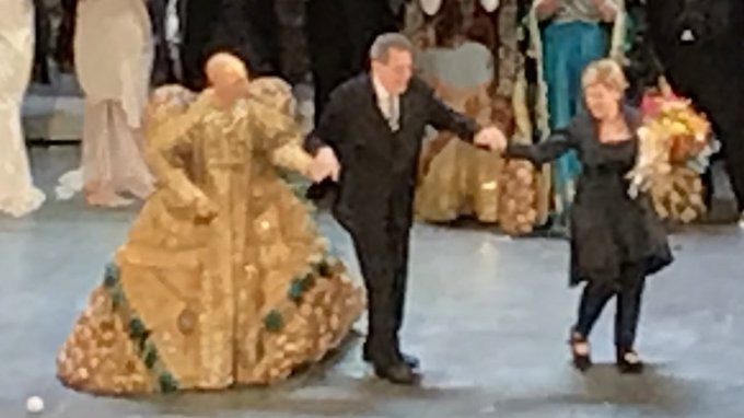 Happy Birthday Philip Glass! Taking a bow at Akhenaten with and