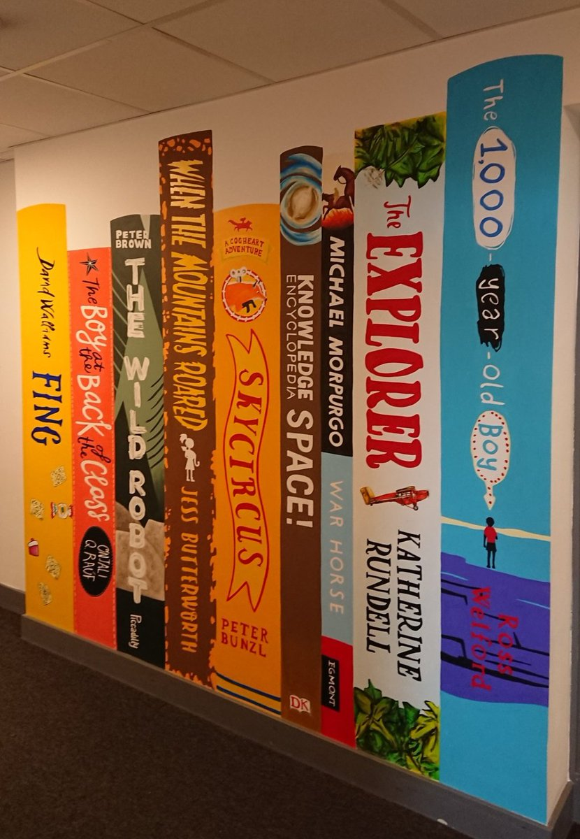 Giant book spines £75 each (including paints, materials and protective varnish)