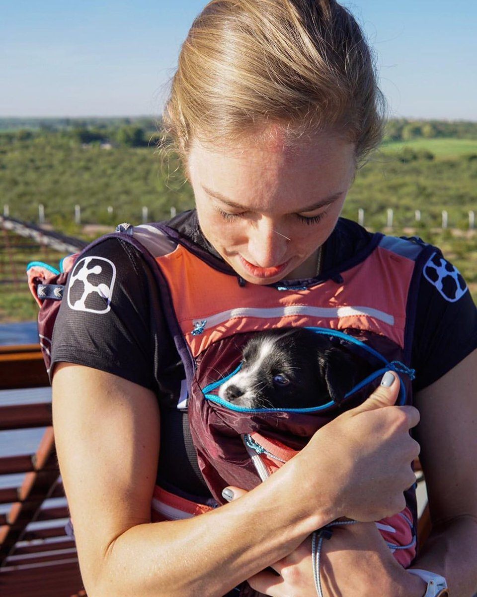 Running vest or puppy carrier? Both! 🐶 — #selfpropelled