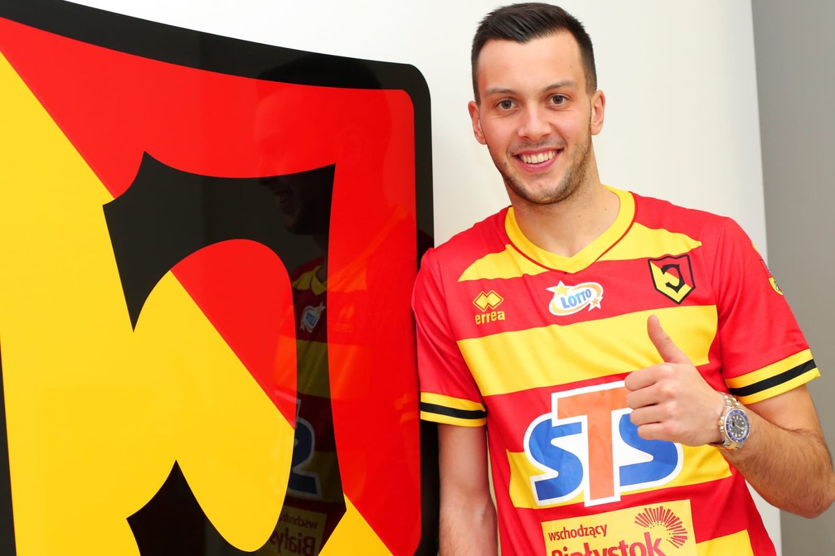 """Dejan Iliev on Twitter: """"I am very happy to say that i have signed a loan  deal with @Jagiellonia1920 until the summer. Lets go Jaga! ❤️💛 #jagiellonia  #jaga #bialystok #ekstraklasa #poland… https://t.co/Le5EIbhTmY"""""""