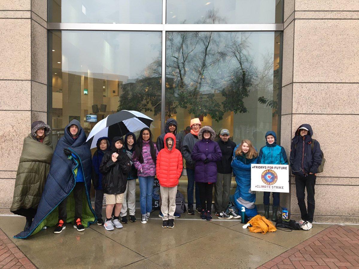 Week 43! 📍Charlotte, NC, USA @CLTgov Still cold. Still wet. Still striking. #FridaysForFuture