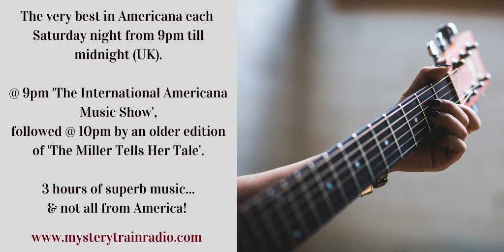 9PM UK its #Americana time on MTR! The International Americana Music Show - this week featuring songs all about American states and cities! @ 10PM = The Miller Tells Her Tale. Americana from the USA & beyond! @ mysterytrainradio.com/listen & @tunein - bit.ly/2G1kCFO