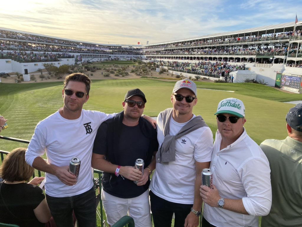 Phoenix Open ✔️ Such a fun event, would recommend to everyone even if you don't like golf! Thanks to the @redbull team for hosting us #ThePeoplesOpen