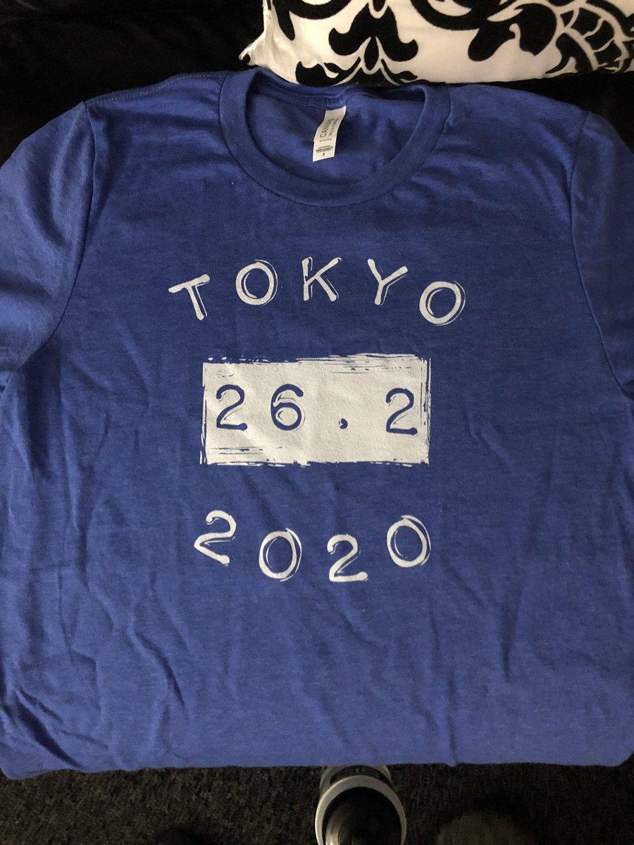 With 4 weeks to to go until #TokyoMarathon my amazing new t-shirt arrived @ArtOfYrSuccess ❤️😍