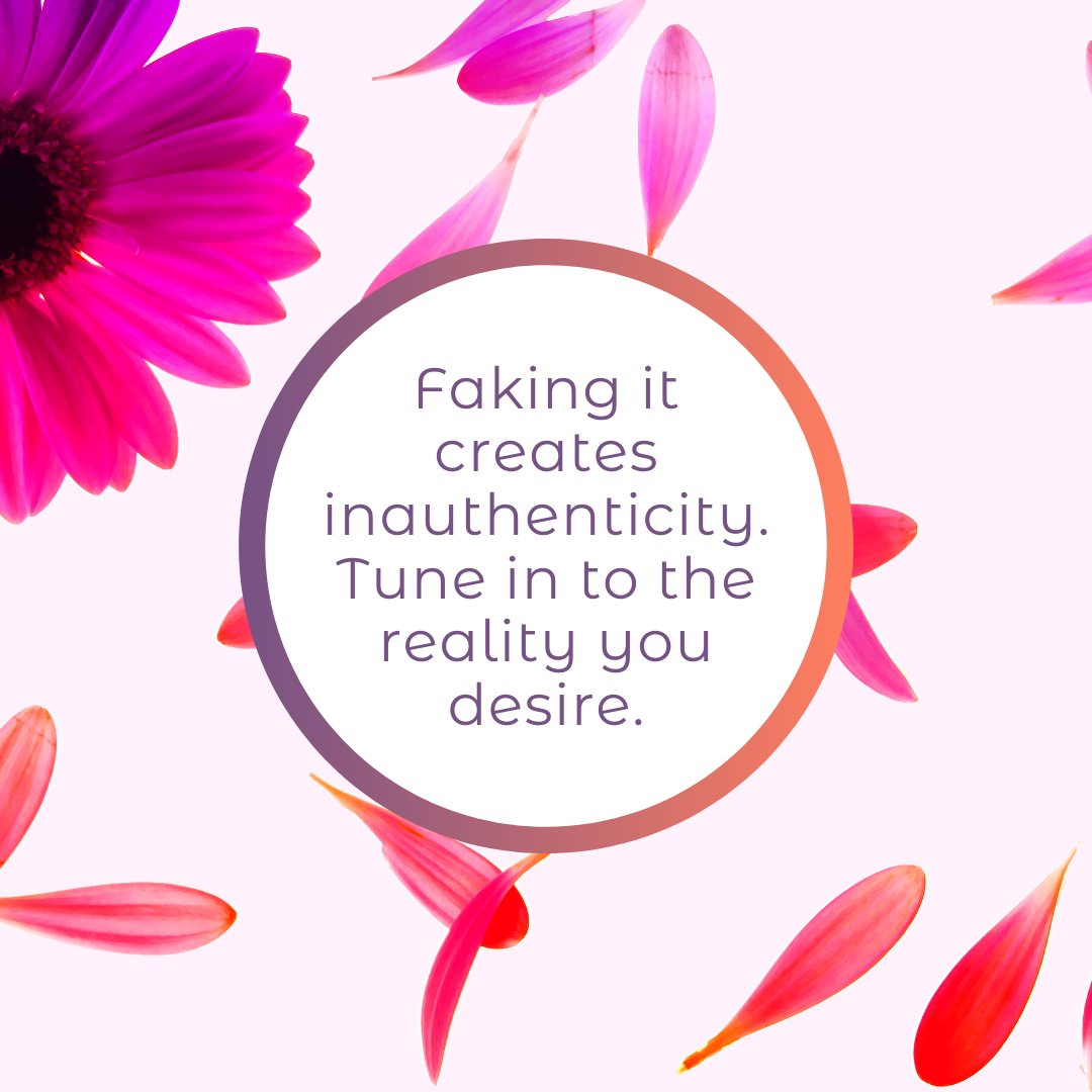 Fake it til you make it. UGH. Some of the worse advice I've ever gotten personally. While I realize this works for some people, I find authenticity serves better. Feel the feels. Take positive action. Just don't pretend. https://buff.ly/2OoJeeb #feelthefeels #feelingsareok