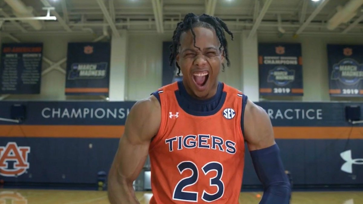 """Nobody works harder than Isaac Okoro."" The @AuburnMBB freshman is making a name for himself."