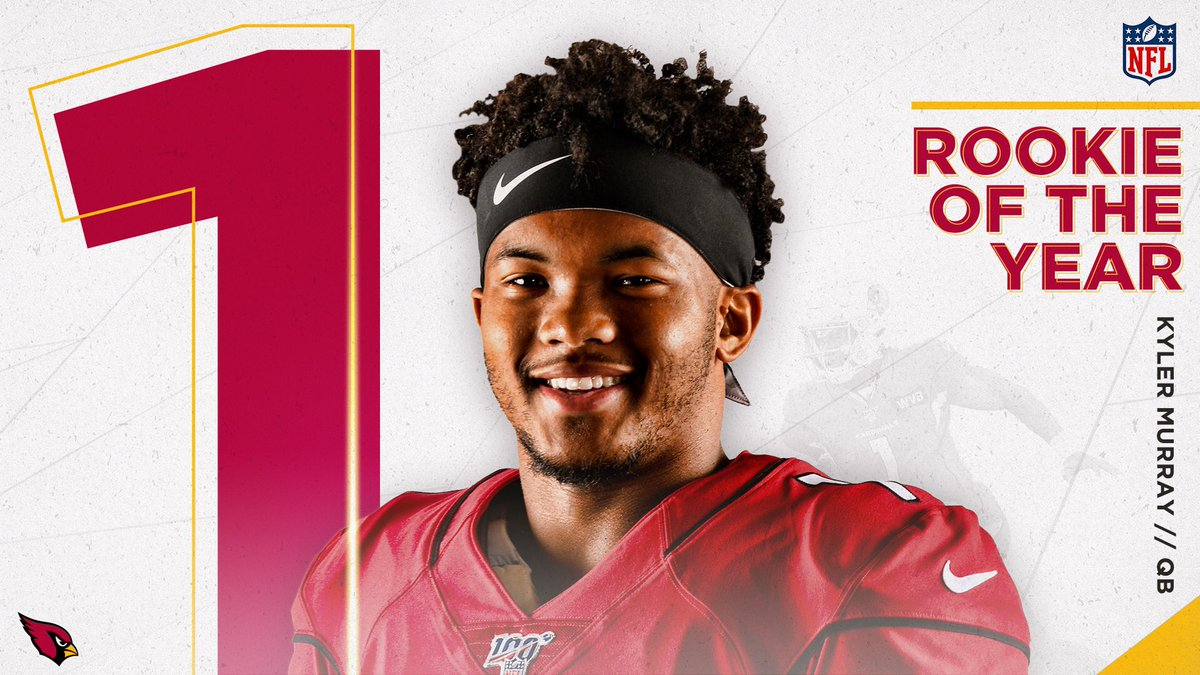 Kyler Murray has been named AP Offensive Rookie of the Year. Congratulations @K1! 👏📺: #NFLHonors   6pm MST on FOX
