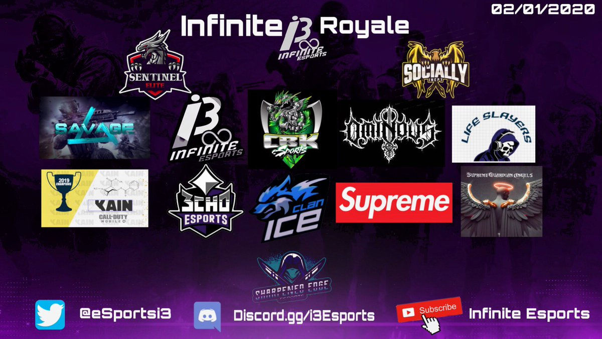 Tonight's scrim line up for tonight! Who will take home the dub? #WeAreInfinite #i3 #LetsGo 🥳