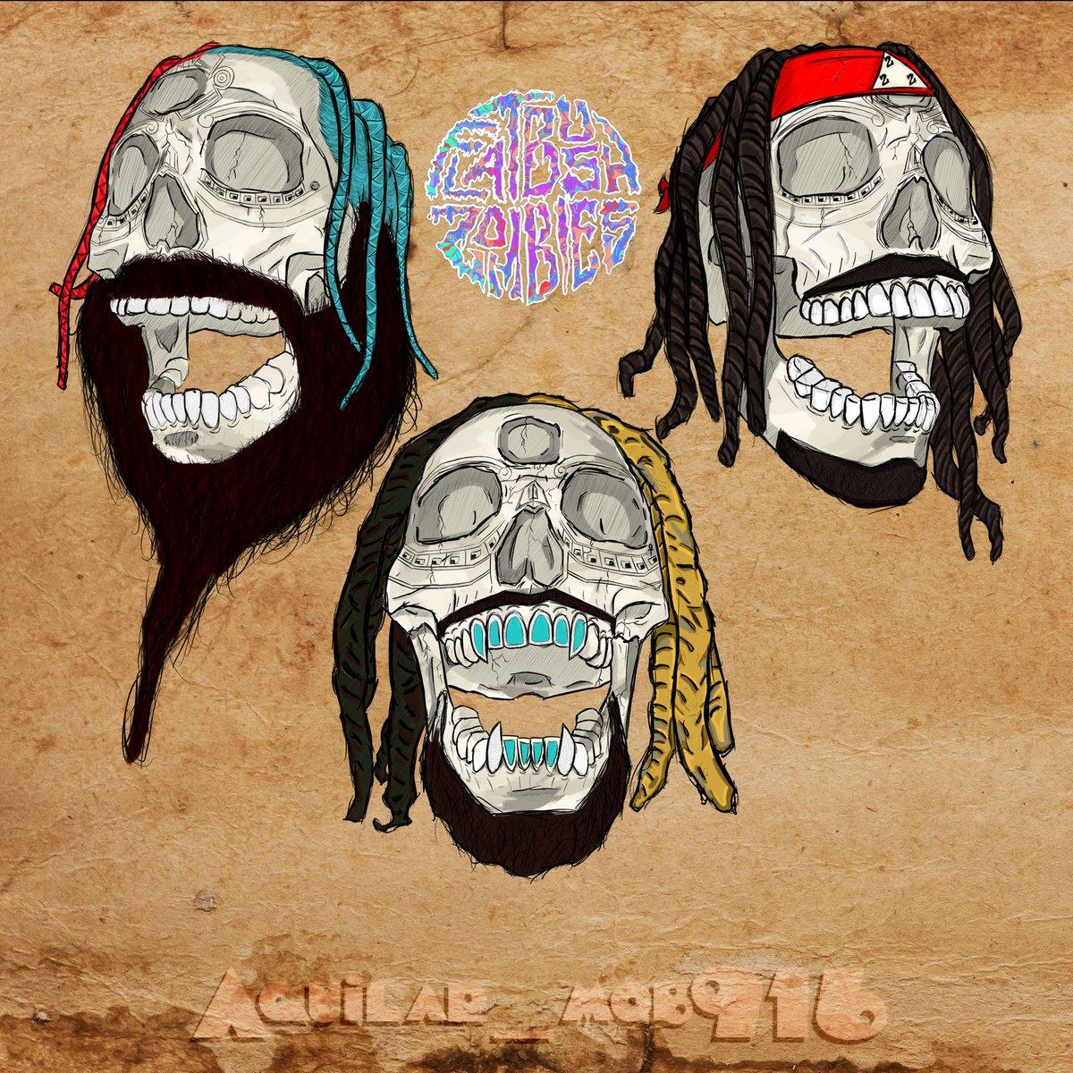 Aztec Zombie Skulls @ZOMBIEJuicee @MeechIsDEAD @erickarcelliott @FlatbushZombies
