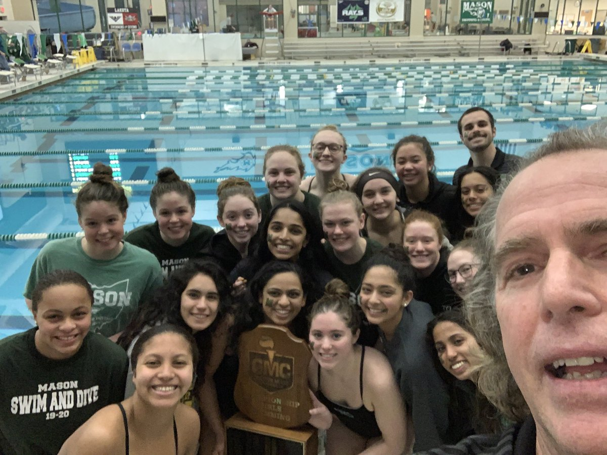 Congratulations girl's Swimming & Diving! 13 straight GMC titles! Well done! #masonproud #gmcchamps