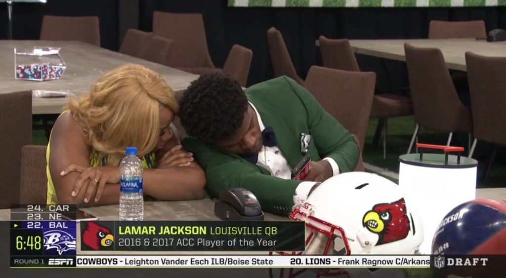 Sarah Ellison On Twitter When Greatness Is Hiding In Plain Sight Twenty One Months Ago Lamar Jackson Sat Alone With His Mom In The 2018 Nfl Draft S Green Room His Name Was The