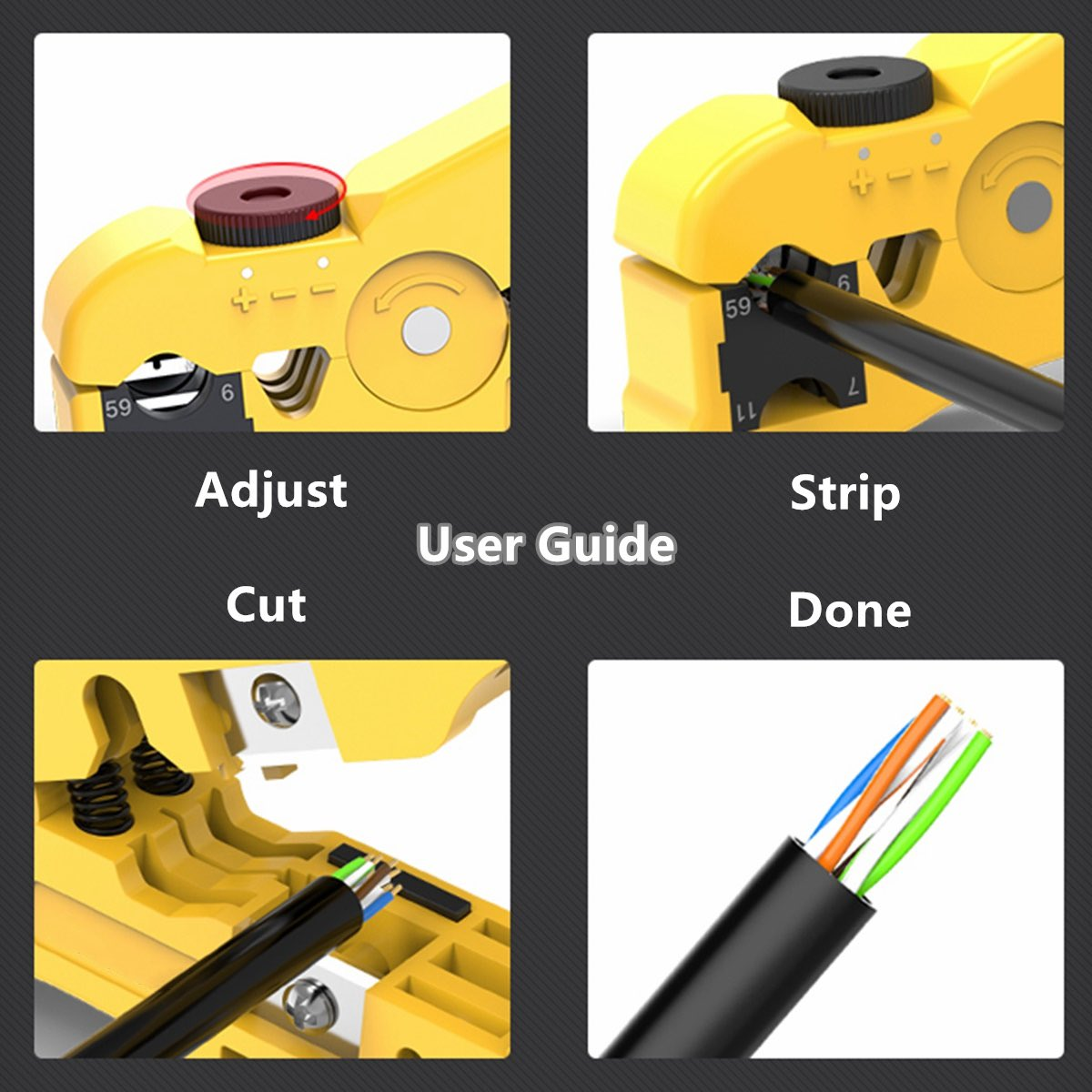 Wire Stripper RG 59//6//11//7 Coaxial Cable Easy to Carry Easy and Safe to Use Light Structure Pen Design