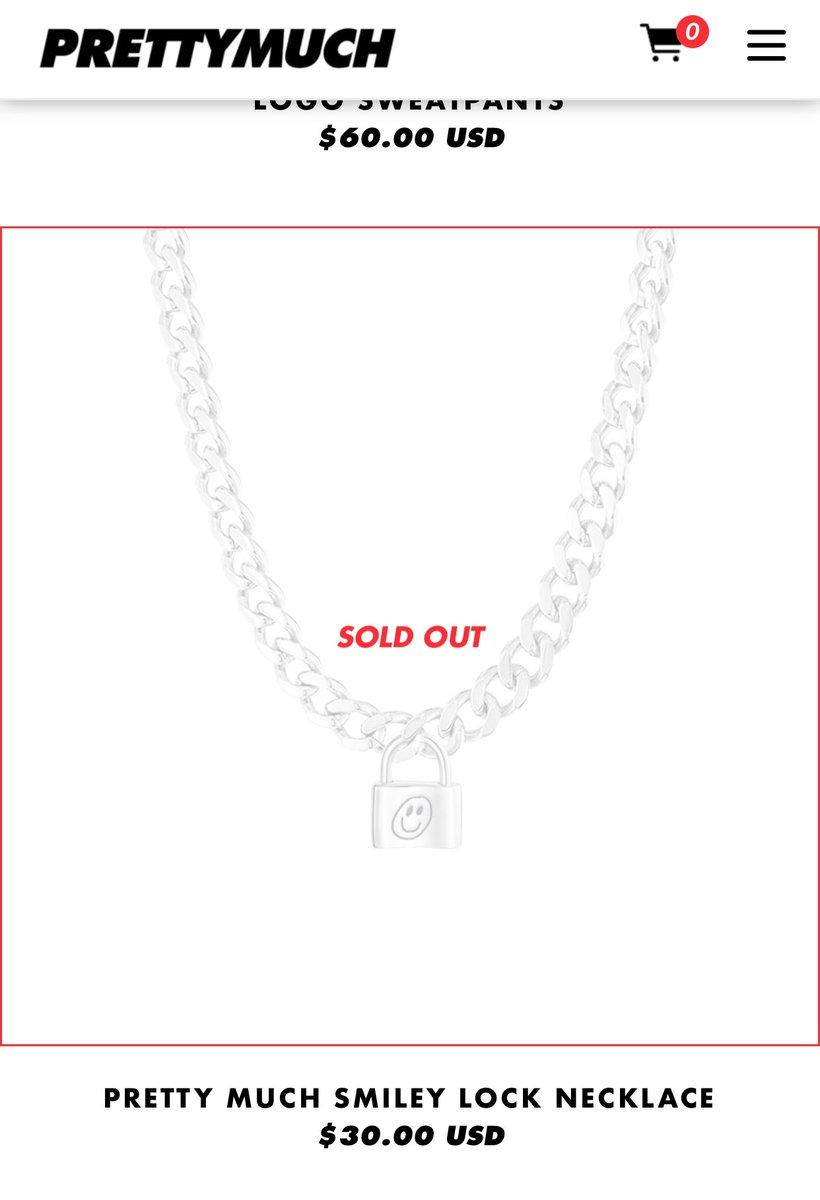 Is the lock chain necklace gonna be restocked soon!!!! #PRETTYMERCH #PRETTYMUCH @brandon_arreaga @Edwin_Honoret @TheAustinPorter @nickmara @zion_kuwonu