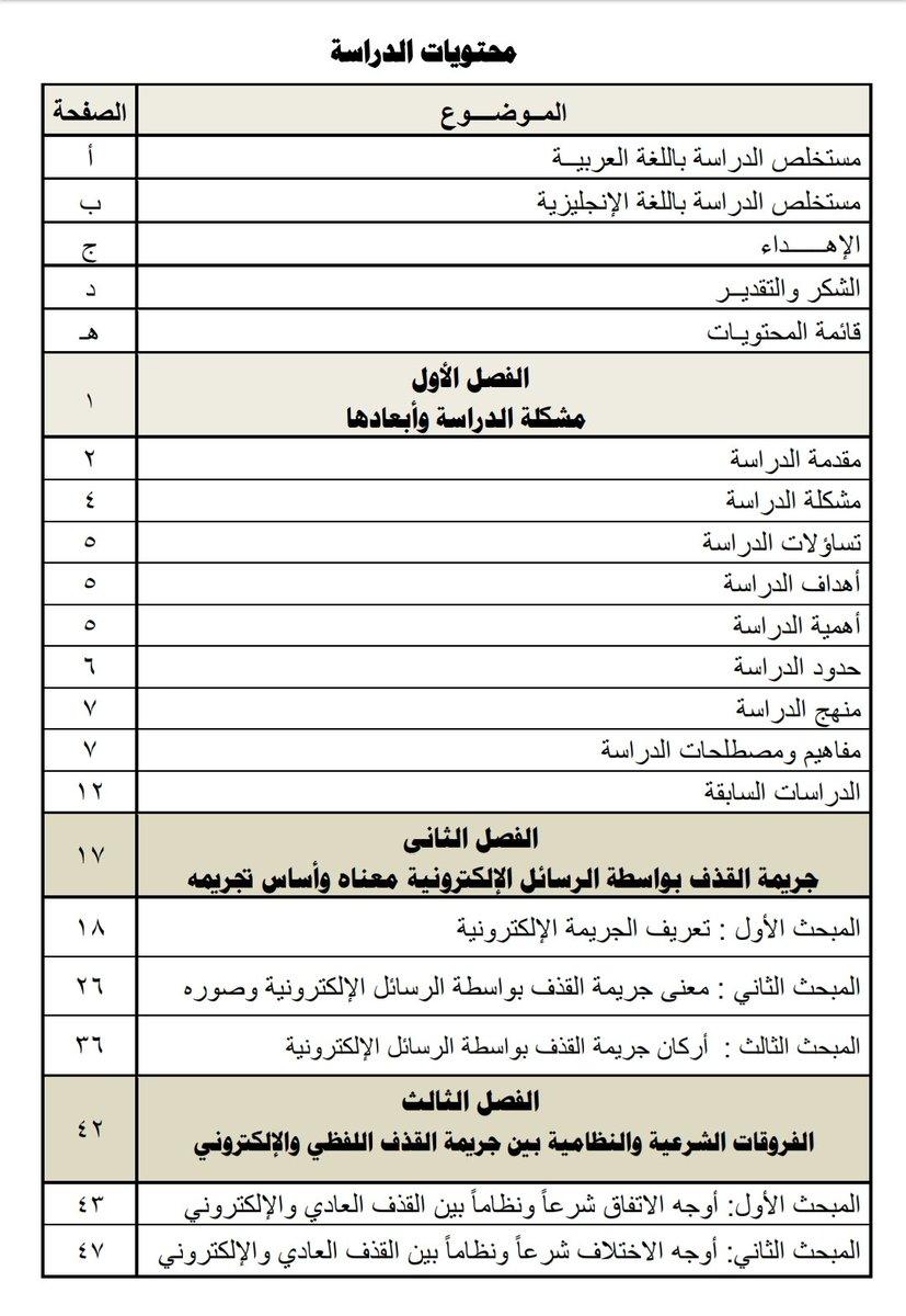 البحوث القانونية عبدالوهاب بن فضل على تويتر القذف بواسطة الرسائل الإلكترونية وعقوبته في النظام السعودي إعداد خالد بن محمد القرني للتحميل Https T Co Lqmk3rlmg5 Https T Co Vhrd0prklf