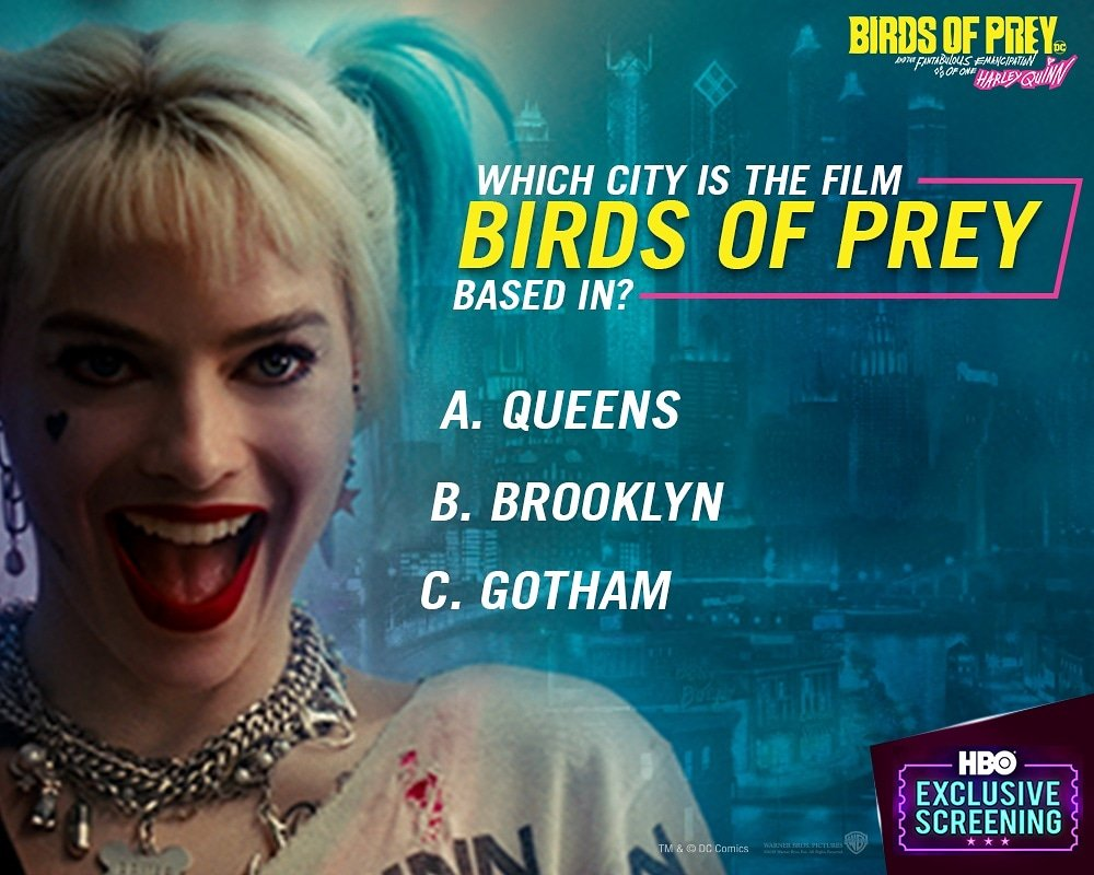 #ContestAlert To all the Dc fans out there. Here is your chance to avail exclusive tickets to the Birds of Prey screening. Comment answers below! (Don't forget to mention your city name)  T&C in the bio. . . #contest #BirdsOfPrey #moviepremiere #exclusive #screening #Harleyquinn