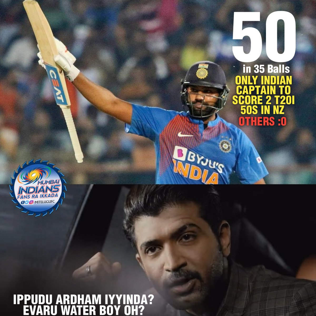 Retired hurt 60(41)  Get well soon HITMAN Only 2 captains scored 2 T20I 50s in NZ Rohit - 2  Morgan - 2 #RohitSharma #retiredhurt #INDvsNZ #indiavsnewzealand <br>http://pic.twitter.com/y2CfajXyou