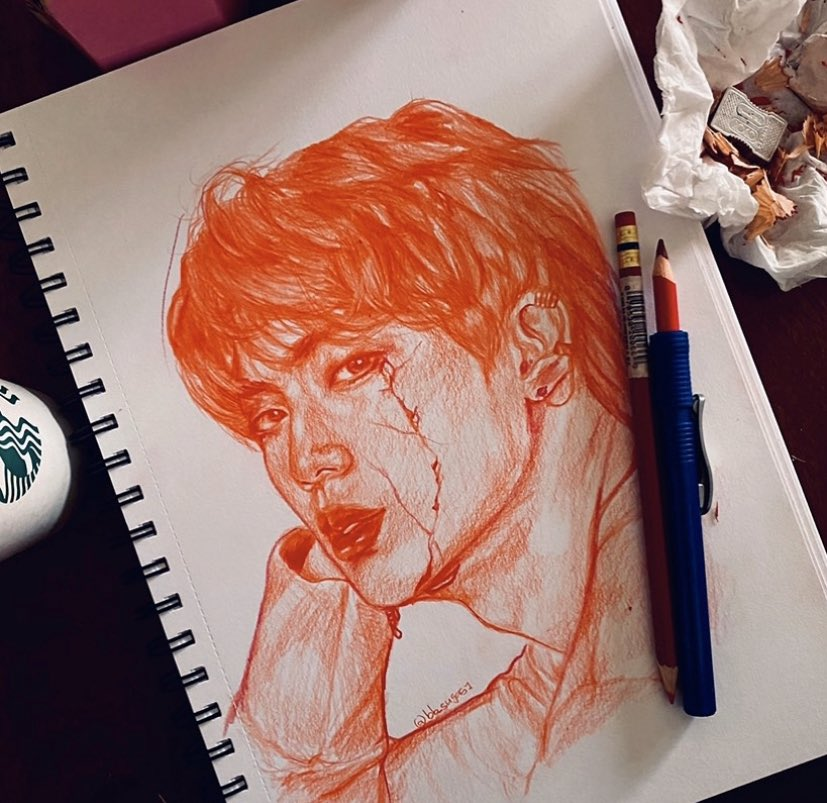 The arrangement of the crack was difficult to figure out but overall I love it #kpopart #kpopfanart #fanart #fanartkpop #kpopdrawing #btsfanart  #jinfanart #kimseokjin #seokjin #seokjinfanart #traditonalart #illust #sketch  #art #illustration  #redsketch #redpencil #colerasepic.twitter.com/MJ67O9PIgH