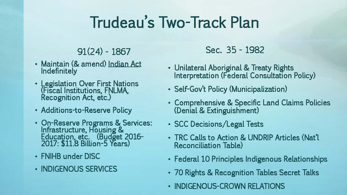 Russ Diabo On Twitter Canada S Two Track Termination Plan 2 2