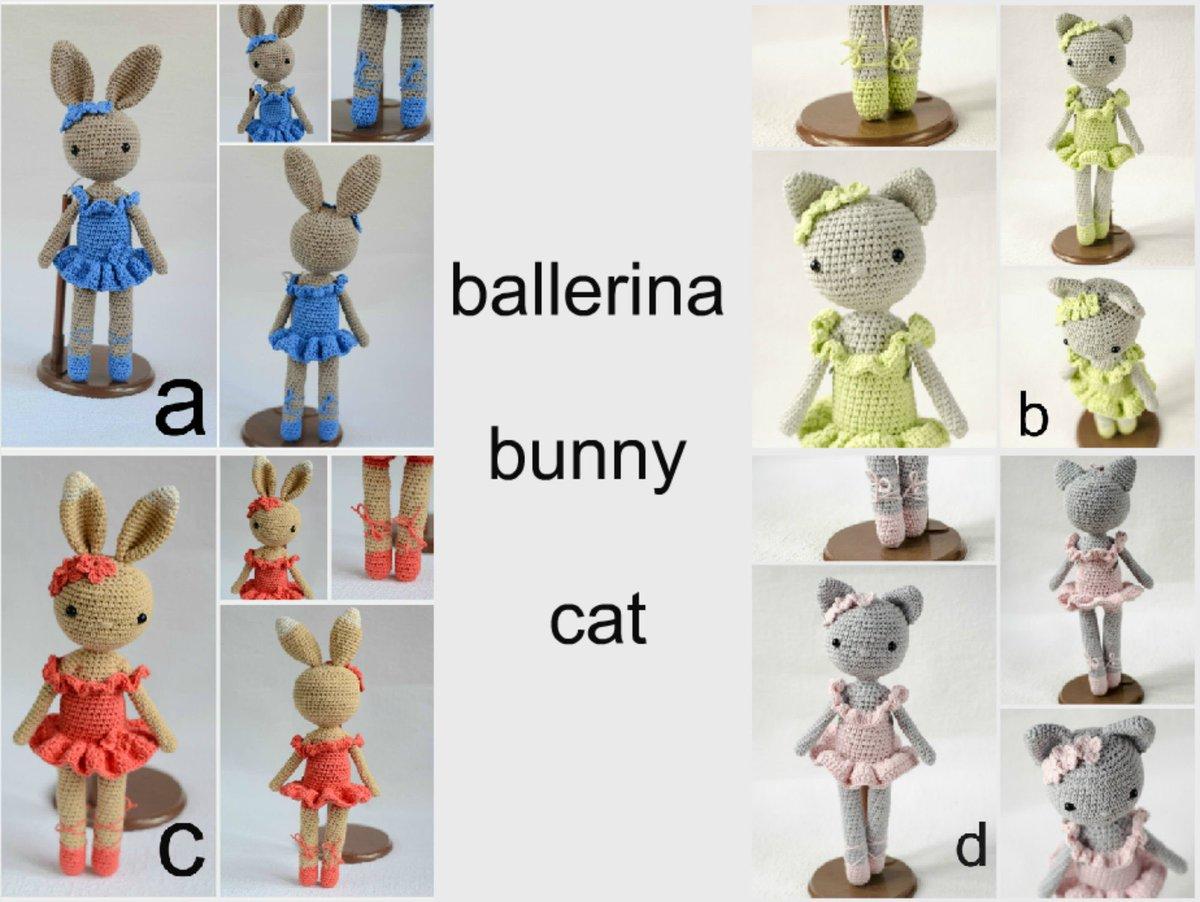 Amigurumi Ballerina Kitten - A Free Crochet Pattern - Grace and Yarn | 902x1199