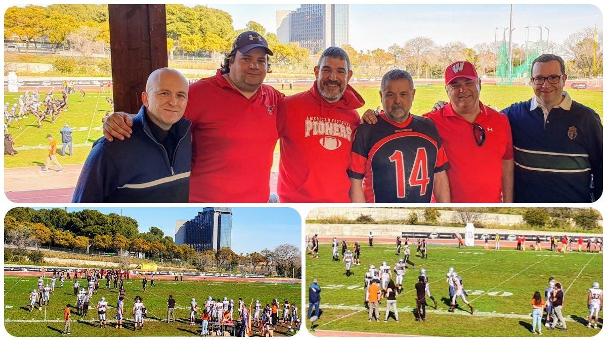 Acompanyem a l'equip de #FutbolAmericà de #LHospitalet @pioners, en el partit de la lliga amb els @BDN_Dracs.#LNFASerieA #EsportsLH Un partit de derbi amb un gran ambient!!Molt bona temporada!!🏉💪👍Gràcies @esport3 per venir!