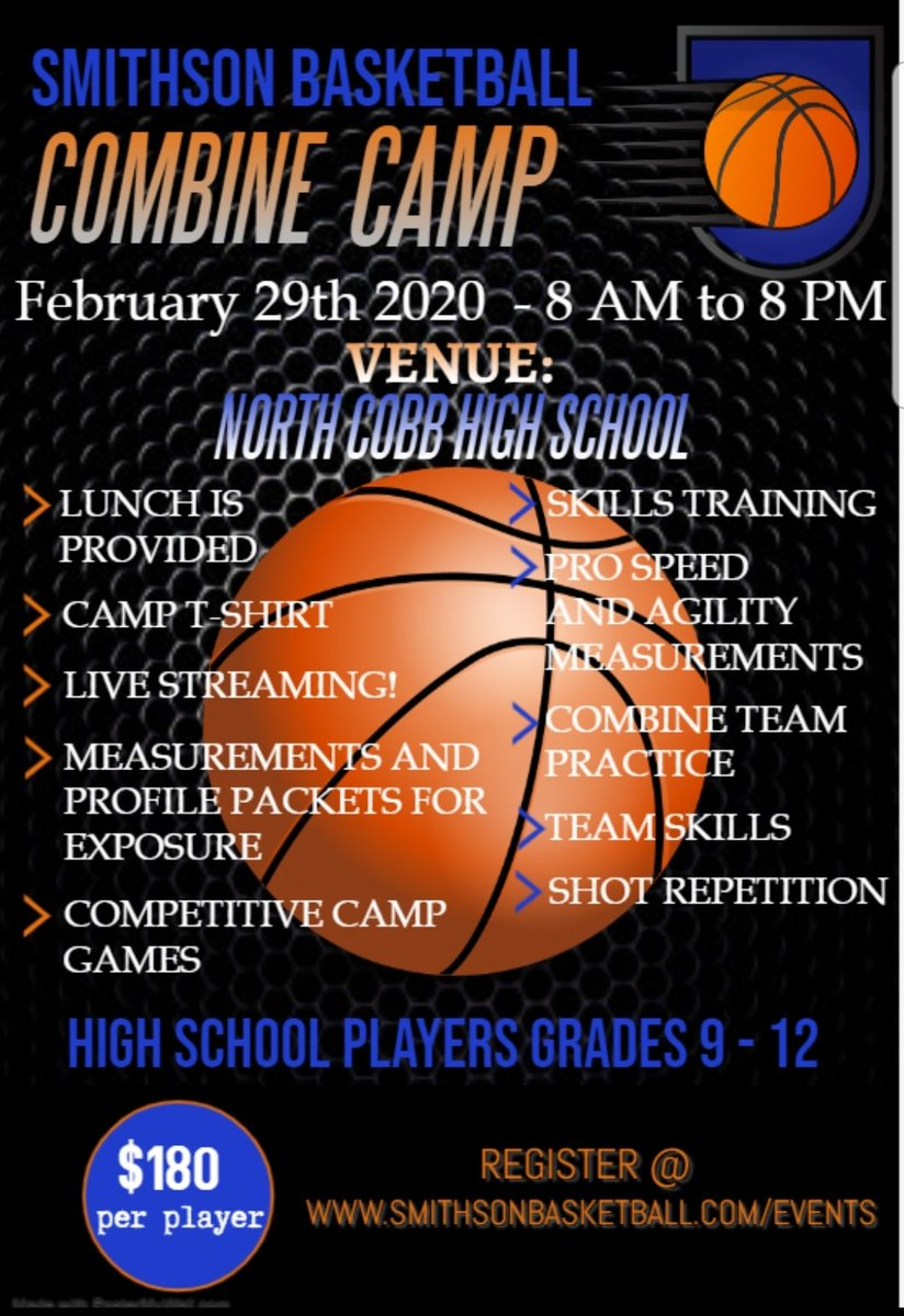 Come get your post season work in! 10 days left on the promo code: #createurgame  Games, skills, agility testing, exposure! Live streaming and lunch provided! https://t.co/P4HDlZYOVm https://t.co/wyIMfgC3od