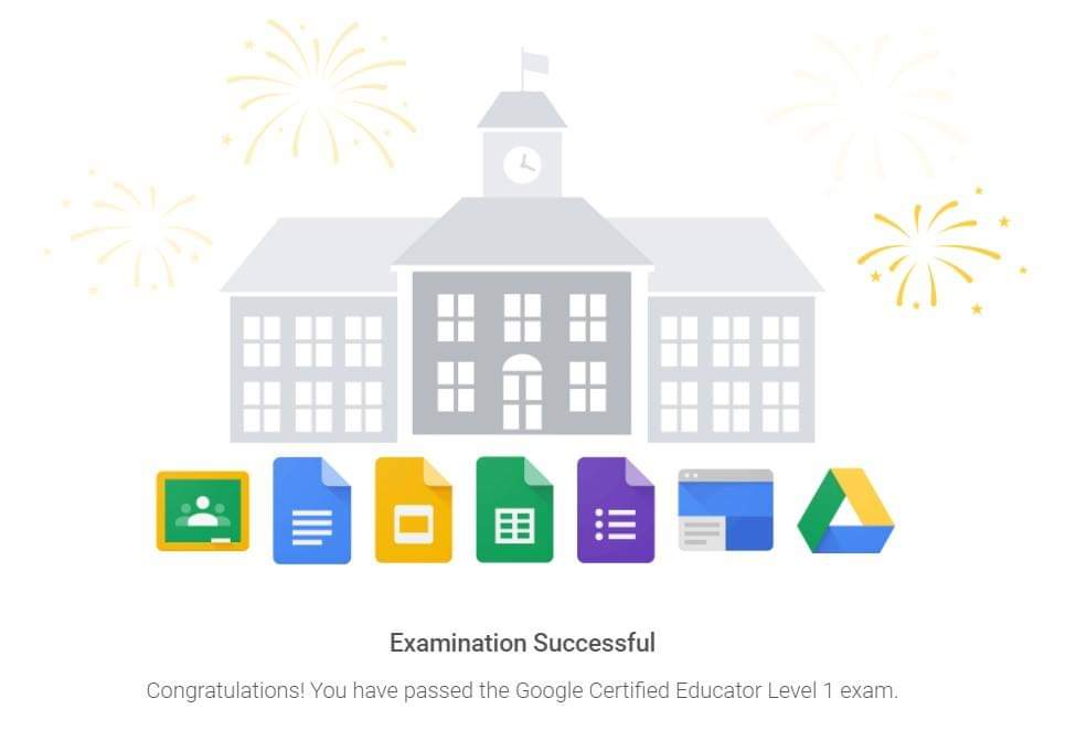 So proud of myself!! I'm Officially a Level 1 Google Certified Educator!