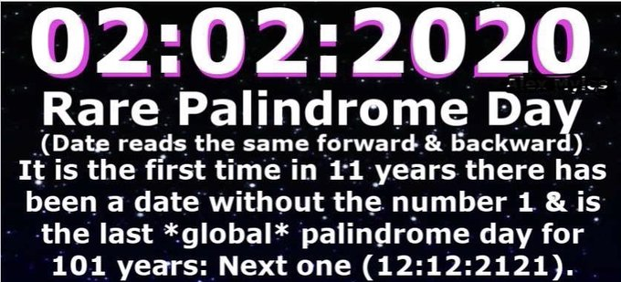 Happy Palindrome Day!  EPxRds0XsAAjk5d?format=jpg&name=small