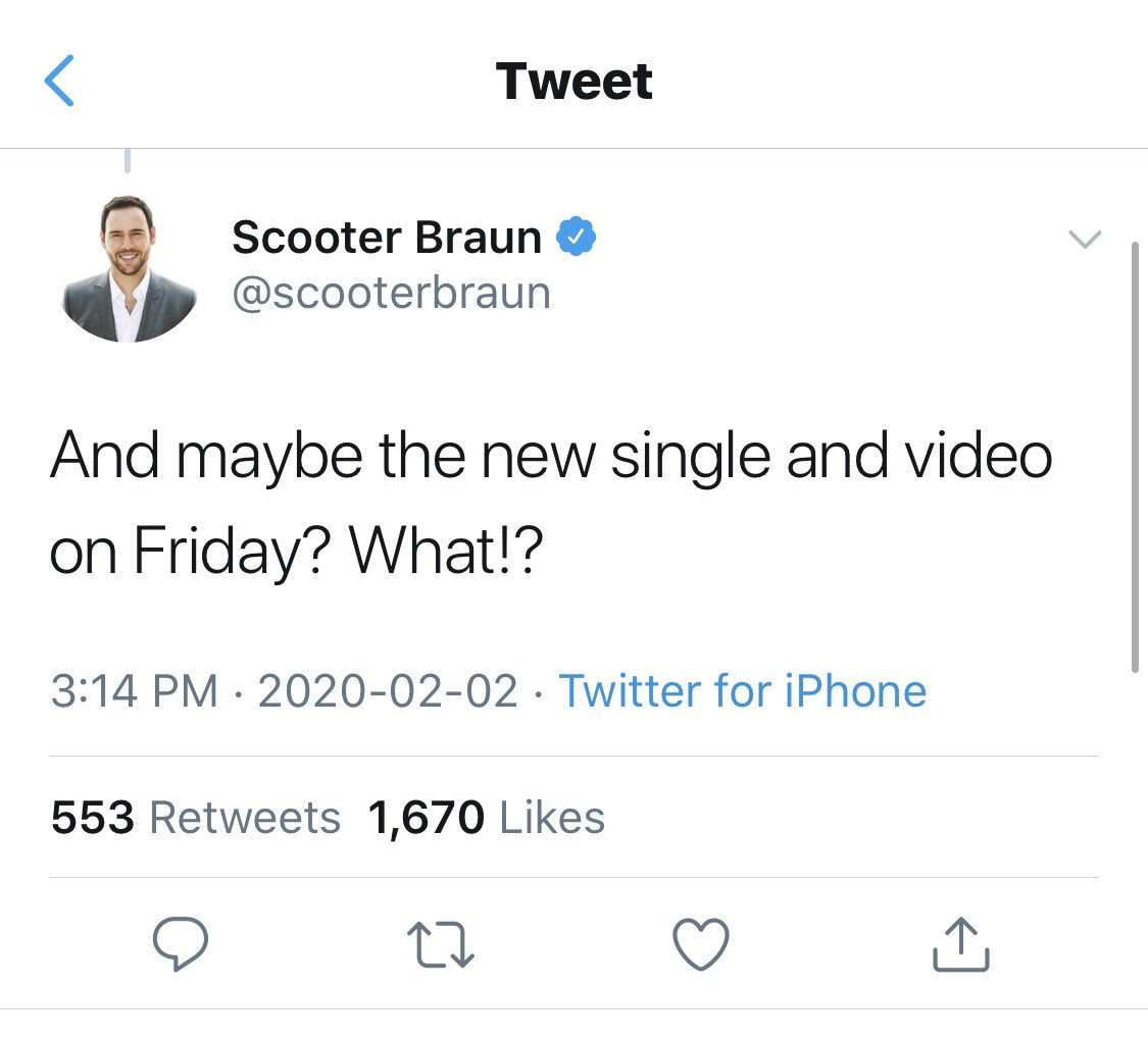 we are getting the new single and music video on Friday!!