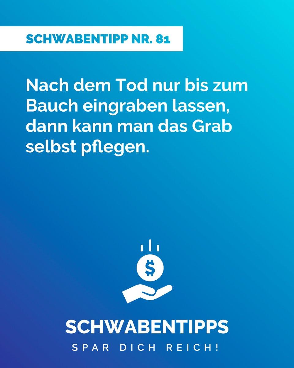 #Klassiker  #schwabentipps #schwabentipp #spardichreich #sparen  #jodeldeutschland  #geizkragen #sparfuchs #spartipps #spartipp #witzig #bestofjodel #sprüche #spruch #humor #rabatt #schnäppchen #sparsam #schwabe #gutschein #reduziert #angebot #schnapp #jodelpic.twitter.com/SRqmUz5fB1