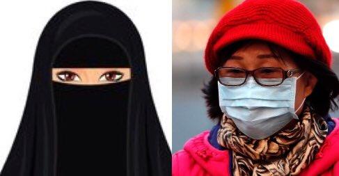 """Salhi Aly on Twitter: """"The #niqab makes a lot of sense now! #coronavrius… """""""