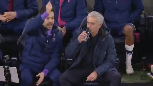 🎂 As it's Jose Mourinho's 58th Birthday, throwback to his reaction to Hugo Lloris saving Ilkay Gundogan's penalty and then realising Raheem Sterling could be given a second yellow card  Classic Jose 😂🤣  (📹 @SuperSportTV)