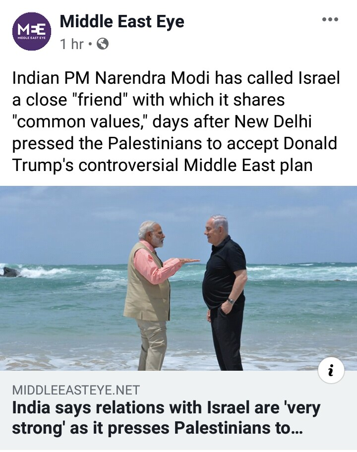 But there is one serious problem for Israelis -- Pakistan & its Islamic ideology armed with nuclear weapons is an existential threat to their Zionist dream of expansion. For that, Israel wants to fight Pak to the last Indian....& they have found a jackass for this mission.