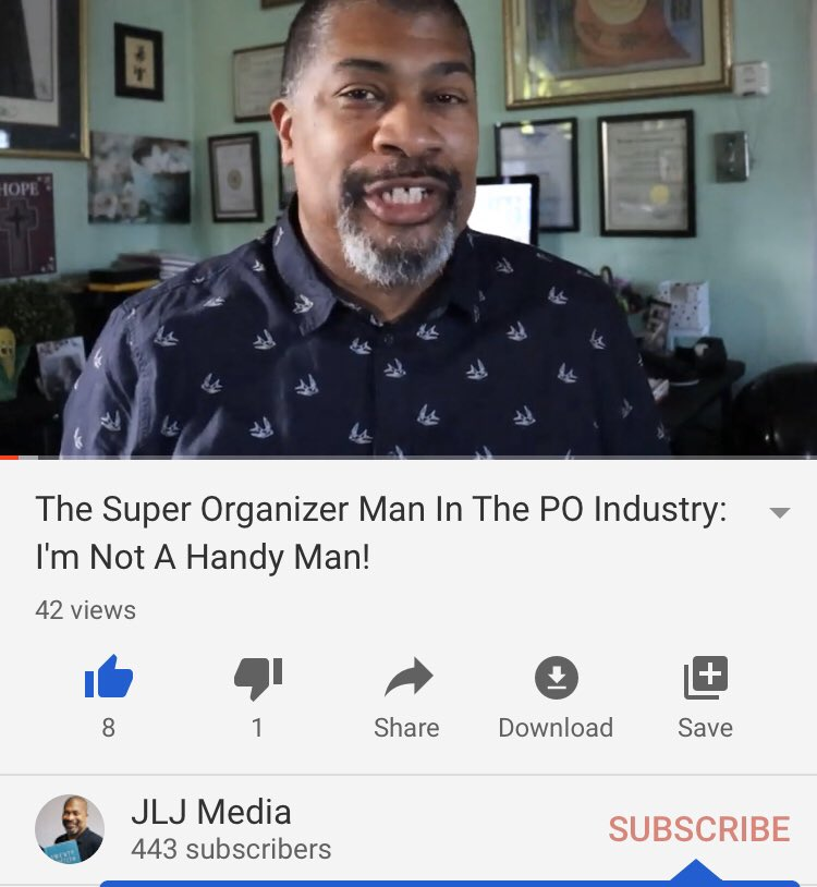 RT https://twitter.com/JamesLottJunior/status/1224035107670913030 … RT @TheSuperO: https://youtu.be/vU1asvyPKEc  @JamesLottJunior #menswork #handyman #professionalorganizerspic.twitter.com/pmH7ekyDxF