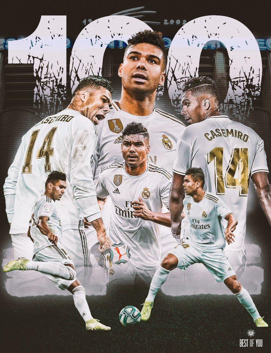 💯 partidos en el Bernabéu son un privilegio. Muchos sueños cumplidos con nuestra afición. Gracias a todos. #HalaMadrid