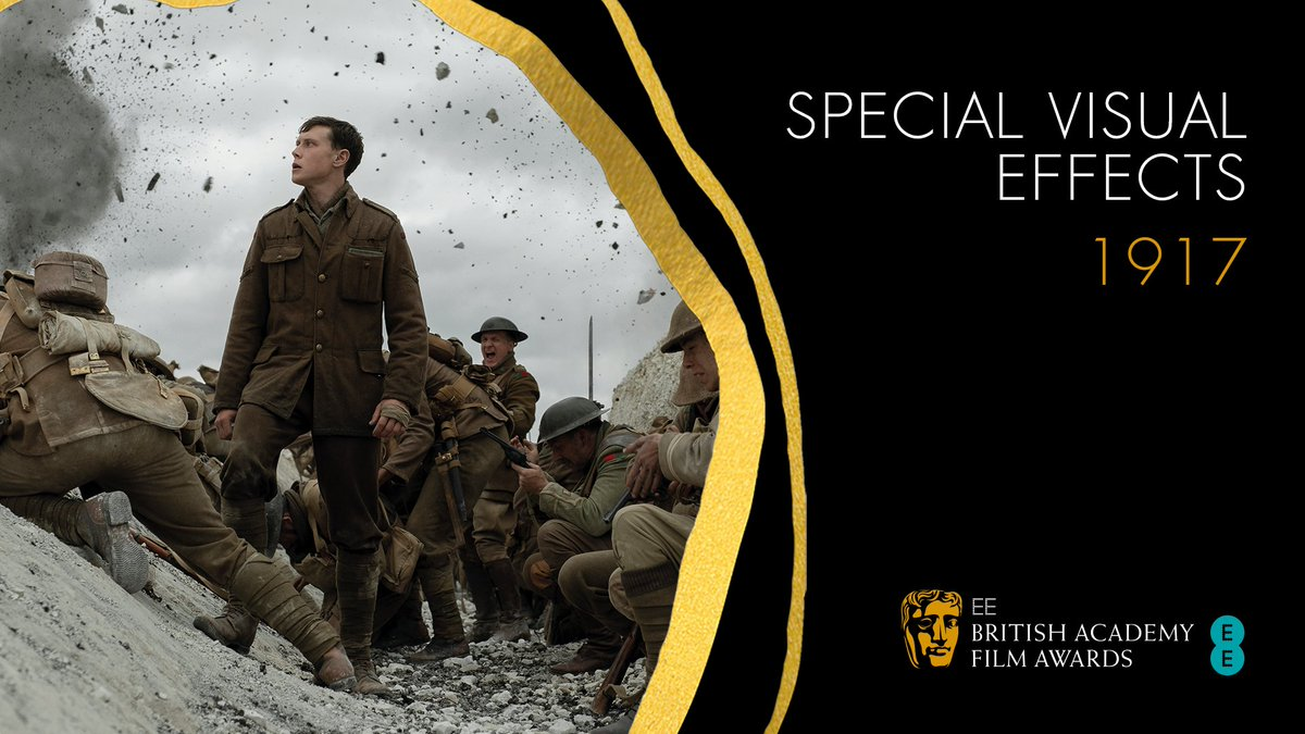 Another win for 1917, this time picking up the BAFTA for Special Visual Effects 💥🏆 #EEBAFTAs #BAFTAs