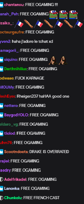LCS Twitch chat right now 🇫🇷🥖