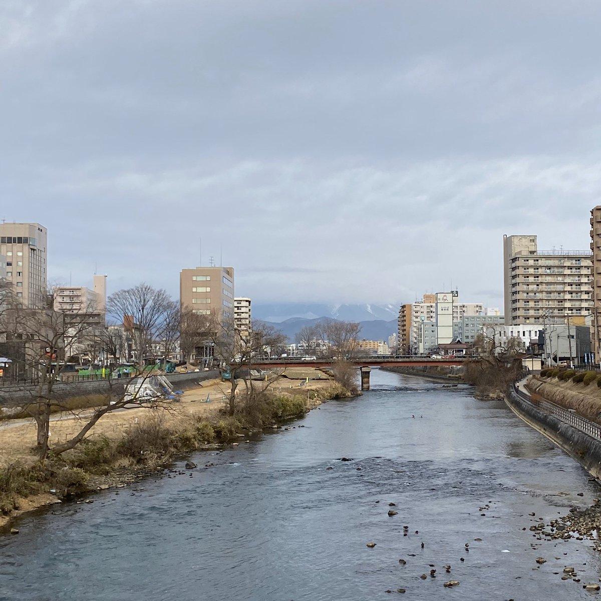 2020/02/03 盛岡市の開運橋から撮影。きょうは節分。ことしの恵方は西南西だそうです。みなさま、体調管理に気をつけてお過ごしください。 #岩手 #盛岡 #北上川 #岩手においでよ #節分