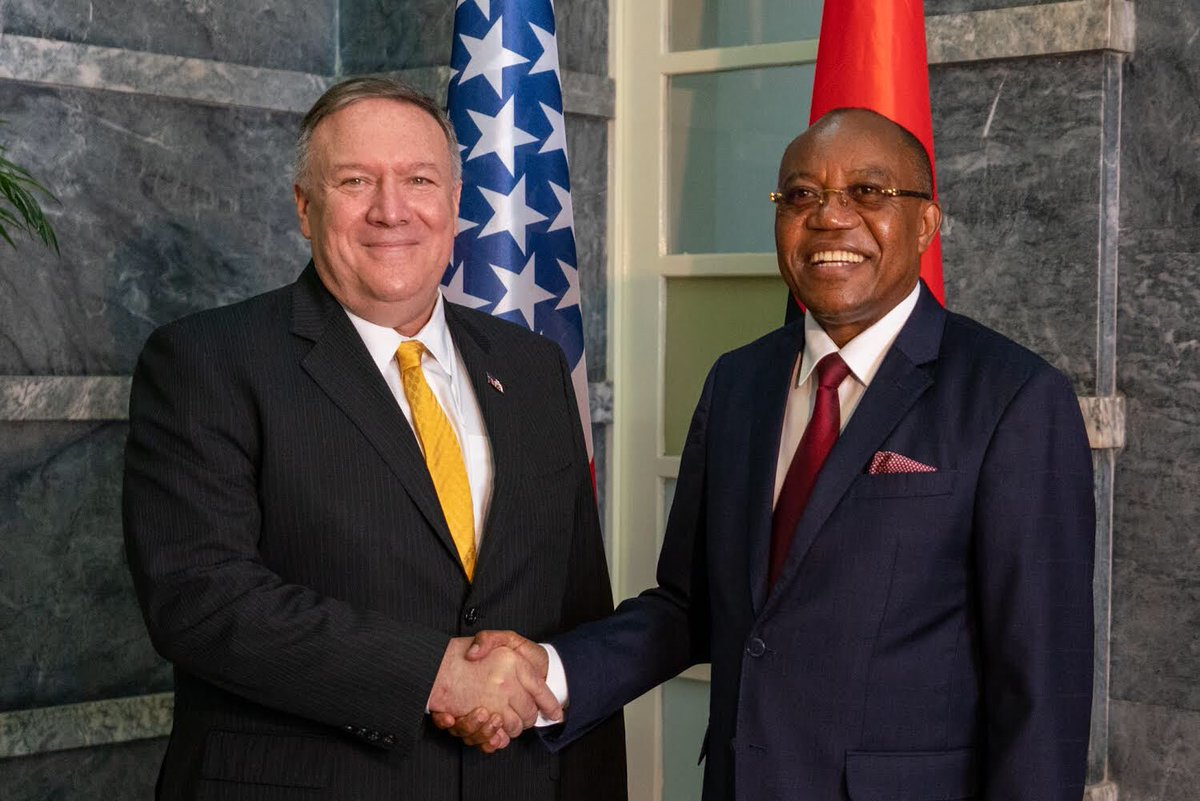 Enjoyed meeting again with #Angola's Minister of External Relations Manuel Augusto. We are proud to work with our Angolan partners to expand our commercial ties and advance regional security.