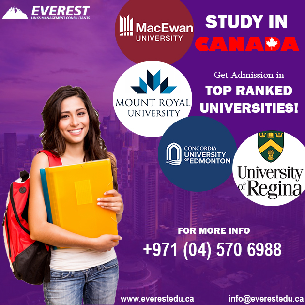 Get admission in Top Ranked Universities in Canada. For more info call (04) 570 6988 or you can visit 216 The Binary Tower, Business Bay, United Arab Emirates. #StudyVisa #AbroadStudy #CanadianStudy #Canada #Everest #StudyinCanada #CanadianUniversities #Dubai #UAEpic.twitter.com/nedyWuZUMf