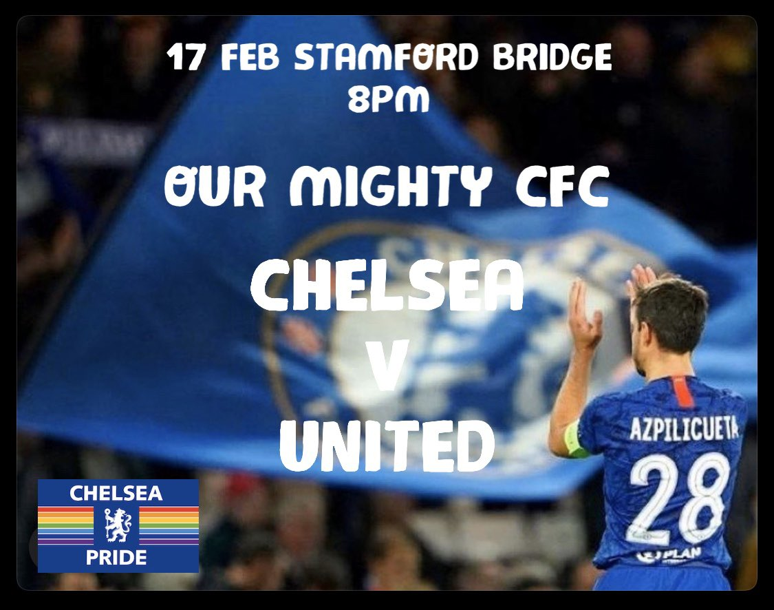So tonight we are at the bridge for this massive clash @ChelseaFC v United. Massive game must win. Lift the boys @CesarAzpi for my birthday and us all. Shout out to our friends and rivals @RainbowDevils ahead of this evening. #CFC #KTBFFH