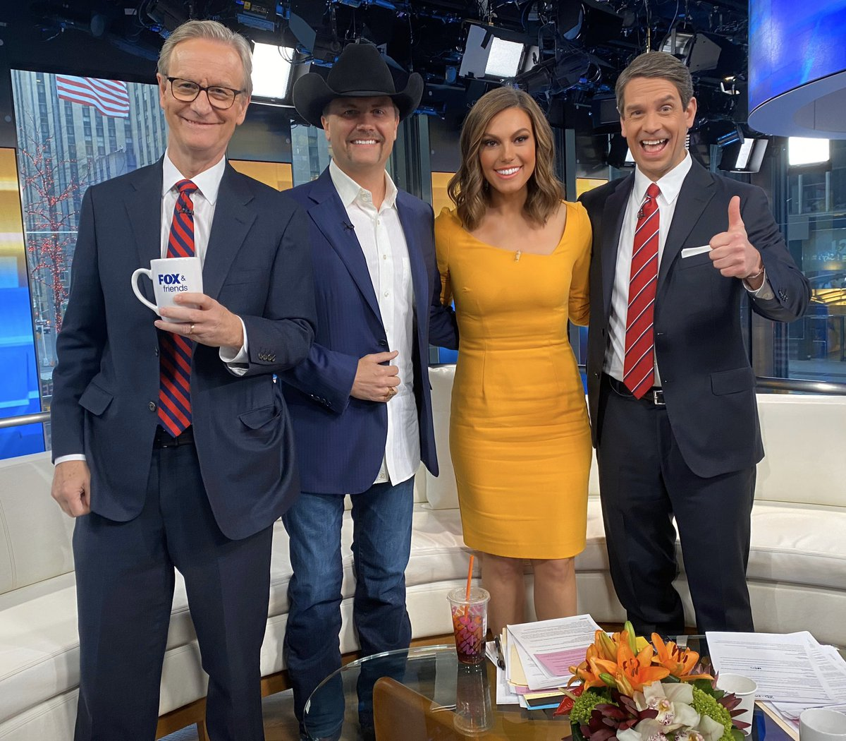 So fun to have @johnrich on @foxandfriends this morning!