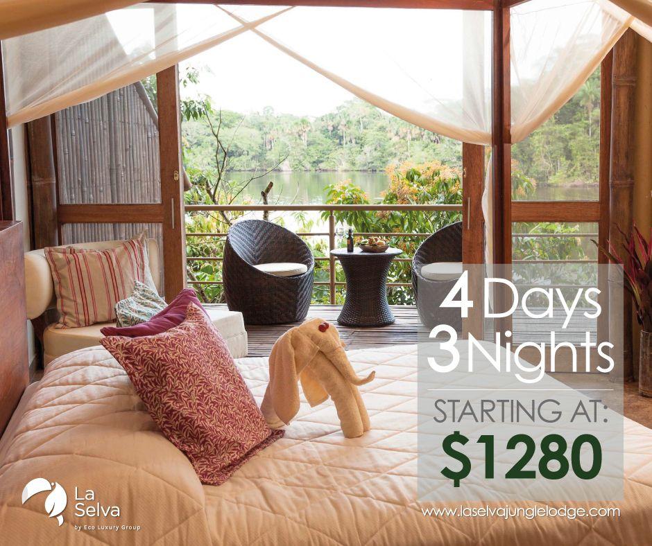 Don't miss this amazing opportunity to visit La Selva! Book now at:  https:// buff.ly/2LonjBk      #selvalodge #amazonrainforest #luxurylodge #luxurytravel #traveldeals #luxurysuite<br>http://pic.twitter.com/i6SPMFz3Hz