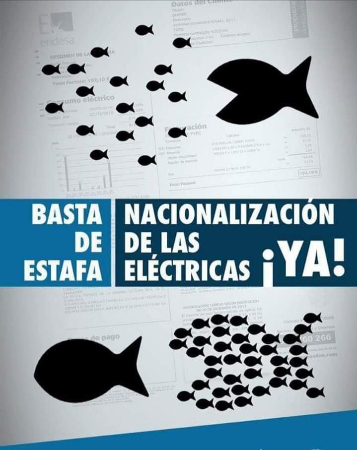 #LaPobrezaEnergeticaMata Contra la vulnerabilidad social que crea la Pobreza Energética. Porque nadie pase frio en invierno.  Nacionalización de las eléctricas ¡¡YA!! #IzquierdaUnida #SanLorenzo #TuIzquierdapic.twitter.com/89aooZJbAL