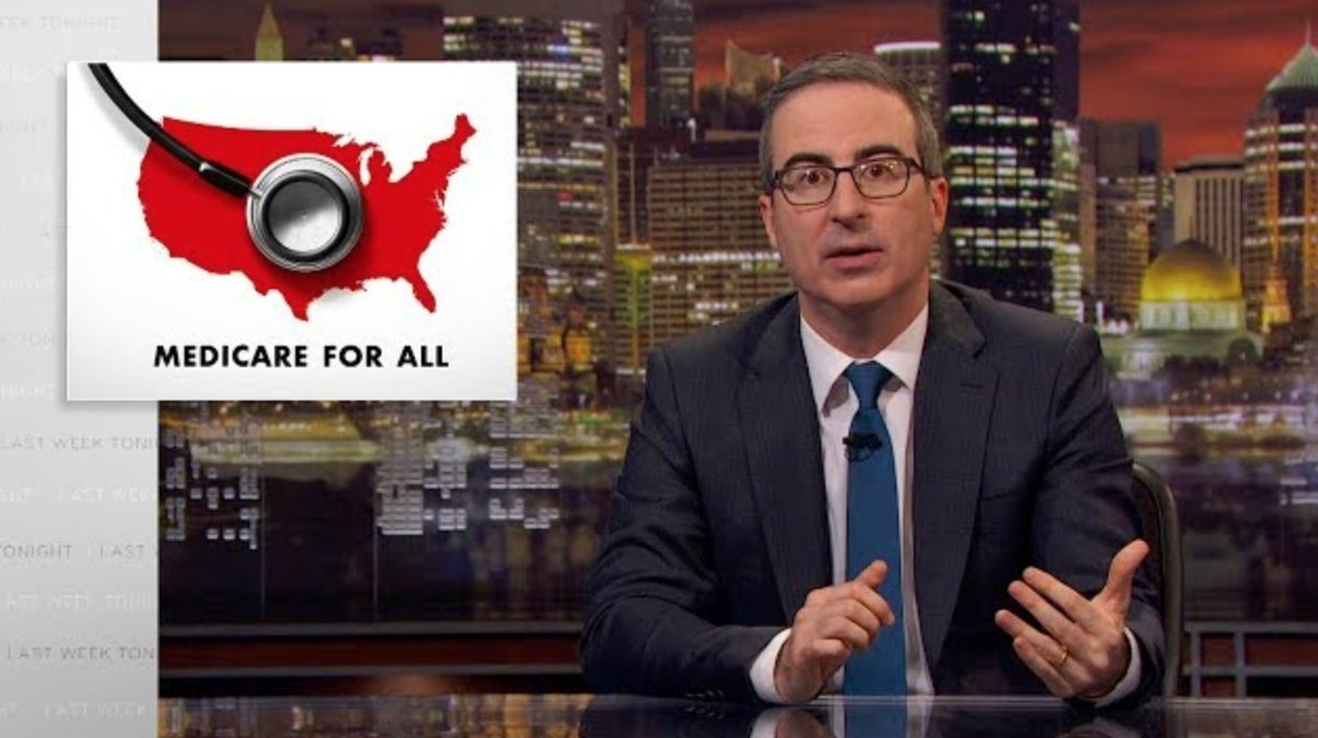 John Oliver slams 'Medicare for All' critics in powerful monologue https://trib.al/sXfi0OY