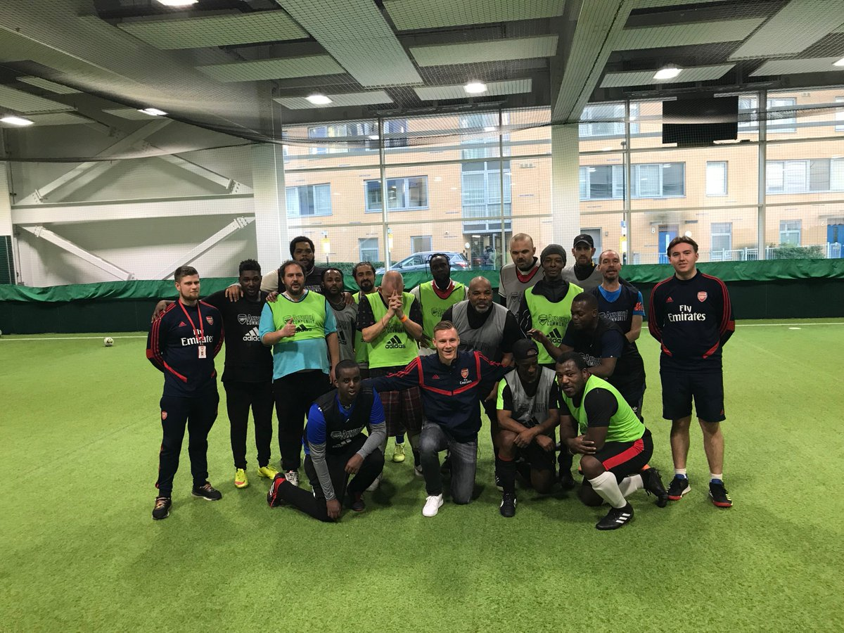 The weekly sessions, which are supported by @AFCCommunity  and our occupational therapists, provide service users with a place to have fun, meet new people, improve football skills as well as aid mental health recovery ⚽️