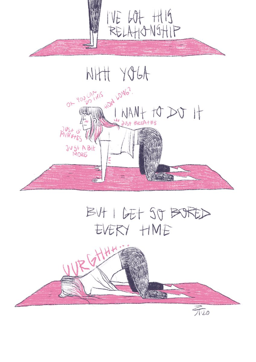 I do struggle with motivating myself to do repetitive activities. Seems like #yoga it is in fashion now and everyone ought to do it so I used to force myself to do it too...but how do you motivate yourself to do something you don't really like? #selfcare #Motivation