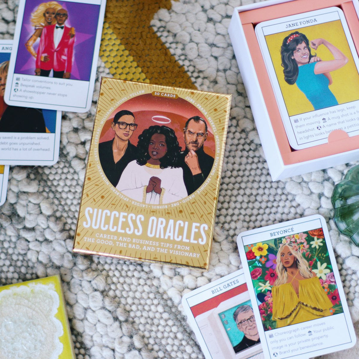 Be guided and inspired by the world's richest and most powerful people with this creative set of oracle cards! 'Success Oracles' is out today: https://bit.ly/2HxUssW #SuccessOracles #business #success #careeradvice #oracles #oraclecards