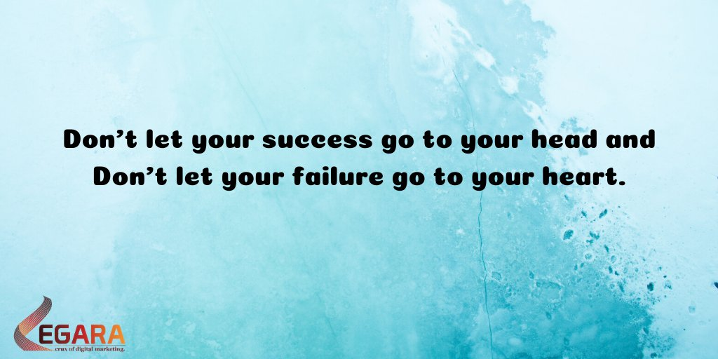 Dont overestimate yourself because of your success or underestimate yourself because of your failure. #inspiration #success #failure #digitalmarketingagency