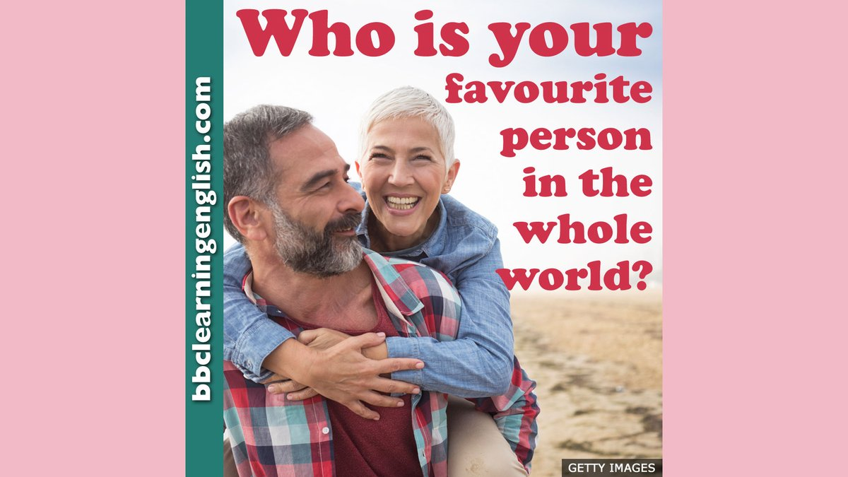 ❤️We love our parents, our friends, our partner, our children, but there's always #someone we feel most comfortable with – someone who is special. Who is your #favourite person in the world? #bbclearningenglish #learnenglish #love #friend #favouriteperson #bestfriend #elt #esl